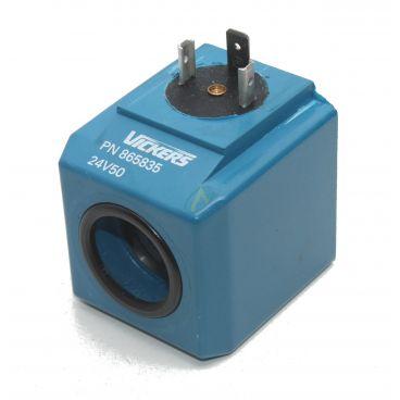 Bobine électrique Carrée 24V AC diamètre intérieur 23.5 mm longueur 50 mm