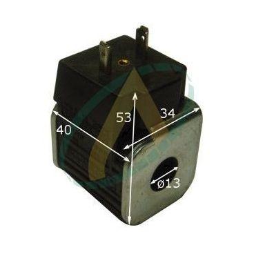 Bobine électrique Carrée 12V CC diamètre intérieur 13 mm longueur 40 mm puissance 14 Watts