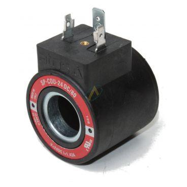 Bobine électrique Ronde 24V CC diamètre intérieur 18 mm longueur 39 mm