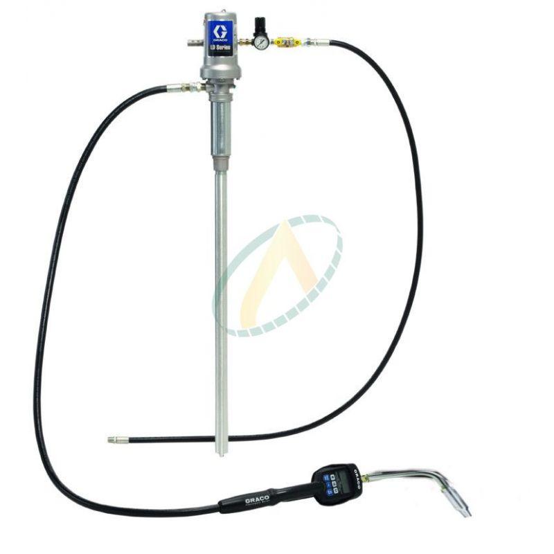 Pompe à huile pneumatique 3:1 avec poignée de distribution à présélection
