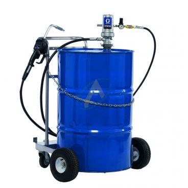 Pompe à huile pneumatique 3:1 avec poignée de distribution à présélection et chariot