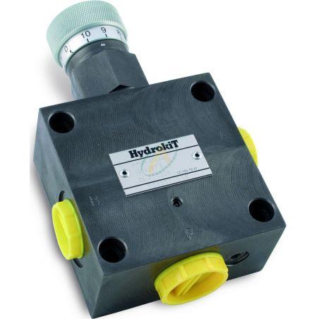 Diviseur de débit hydraulique réglable de 0 à 25 l/min, pression maximale 350 bars