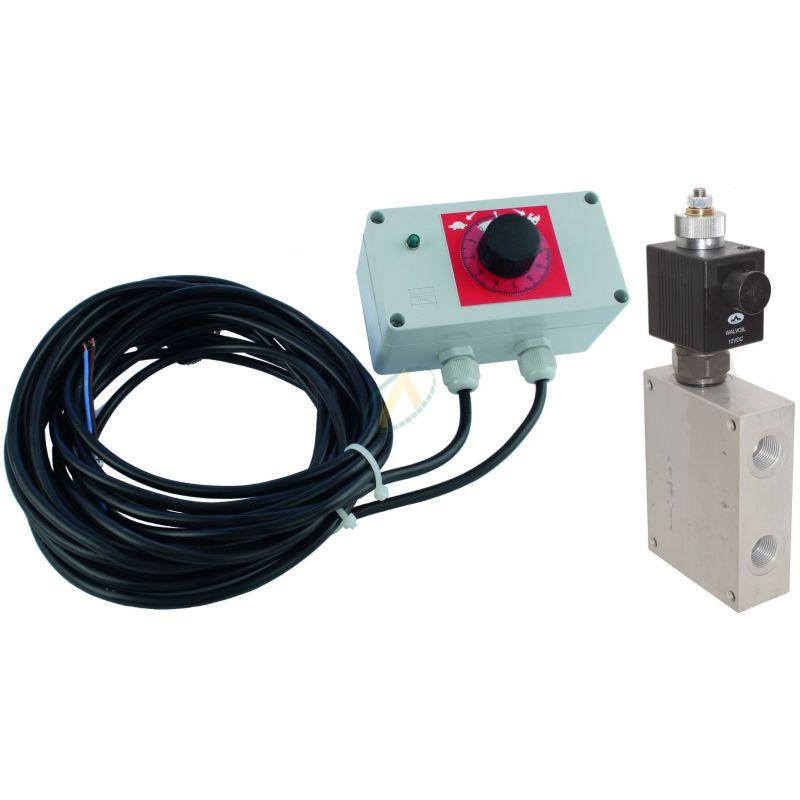 Diviseur de débit réglable de 0 à 90 l/min à commande électrique 12V