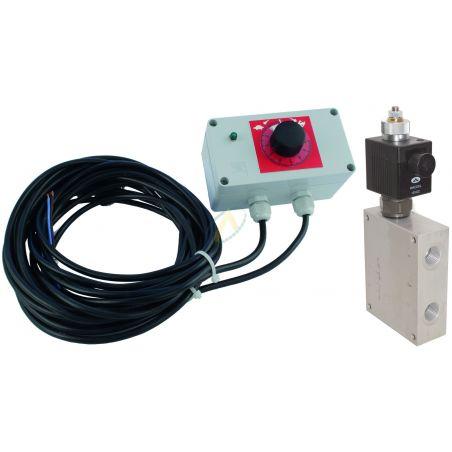 Diviseur de débit 150l/min réglable de 0 à 90 l/min à commande électrique