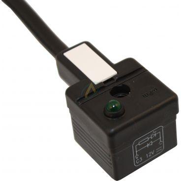 Connecteur Hirschmann avec câble coudé longueur 2 mètres et LED