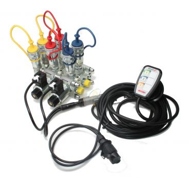 Sélecteur de fonctions empilables 12V 50l/min avec boitier électronique et coupleurs