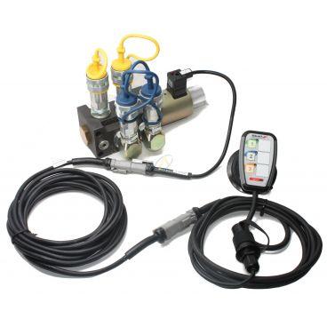 Sélecteur de fonctions empilables 12V 80l/min avec boitier électronique et coupleurs