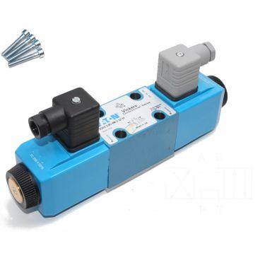 Distributeur Cetop 3 double bobine B vers T P et A bloqué SCH A à commande électrique