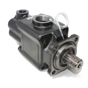 Pompe hydraulique pour camion compacte PAC double débit HYDRO LEDUC 25 à 39 cm3, flasque 4 trous 80x80, arbre 8 dents