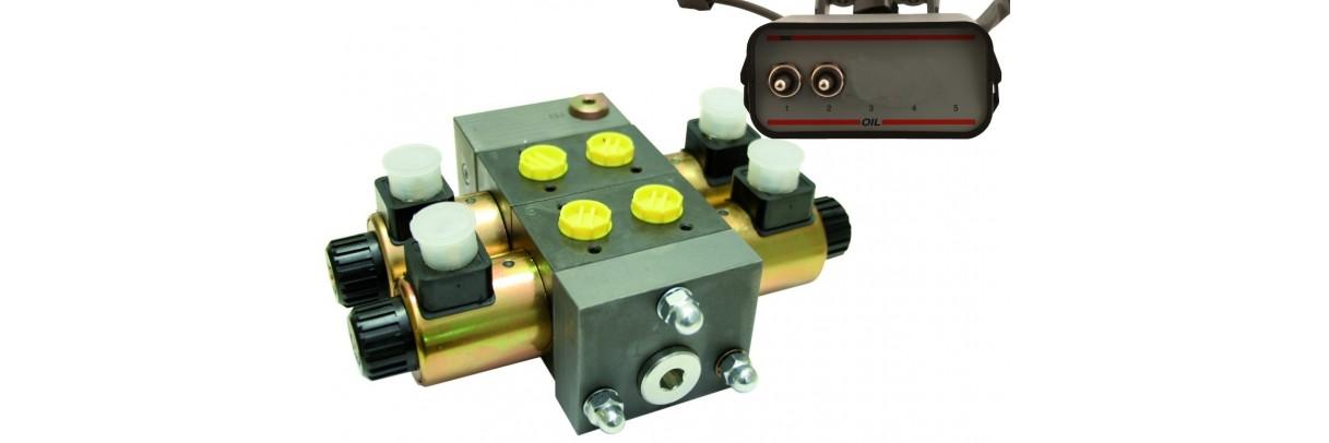 Distributeur électrique ou manuel avec boitier de commande.