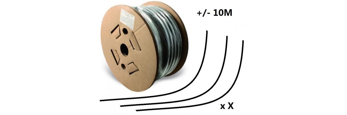 Lot de chutes de flexibles sur bobine de 20, 40 et 60 mètres