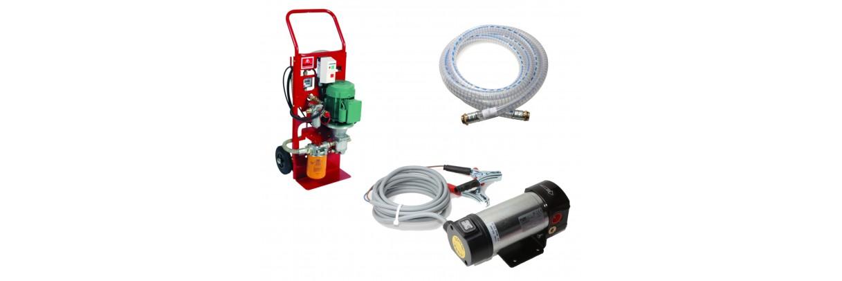 Pompes de transfert huile et gasoil seules ou en ensembles complets