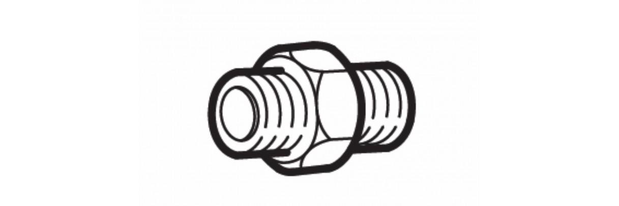 Raccord hydraulique droit