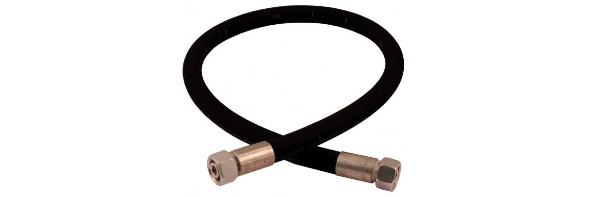 Flexible hydraulique avec embout BSP JIC GAZ ORFS DIN