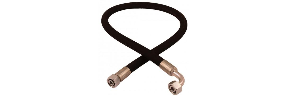 Flexibles hydrauliques équipés, tuyaux, jupes et embouts.