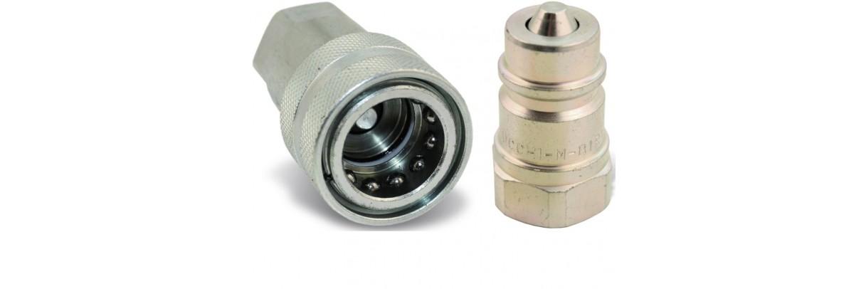 Coupleur hydraulique à clapet ou à bille, pour le milieu agricole, parc et jardin et industriel.