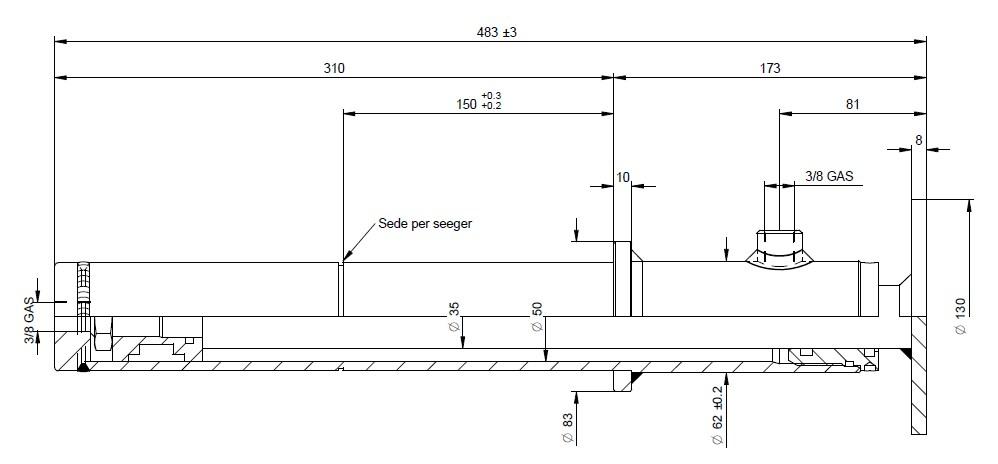 béquille stabilisatrice 35 mm à pied fixe