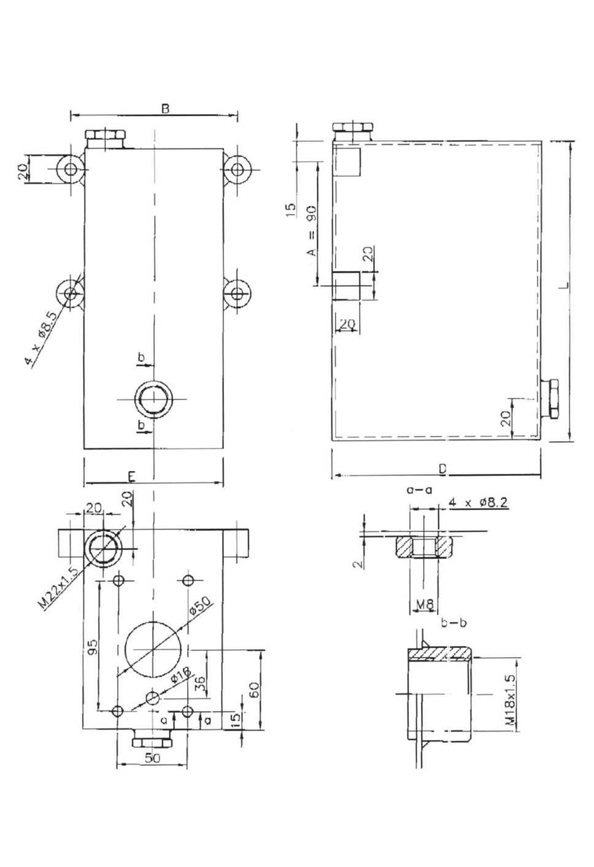 Schéma réservoir pour pompe double effet