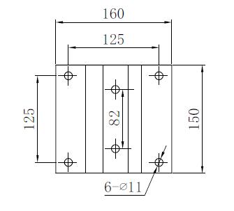Schéma plaque de fixation groupe de bennage 12V
