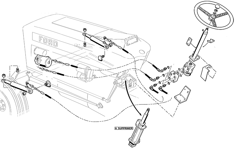 direction hydrostatique pour ford 2000 2600 3000