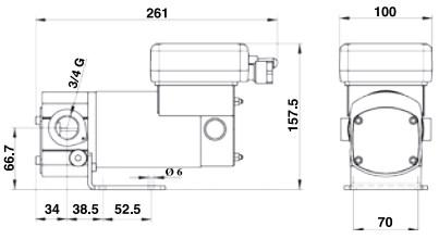 Groupe de transfert d'huile complet 12 ou 24 V, 10 l/min