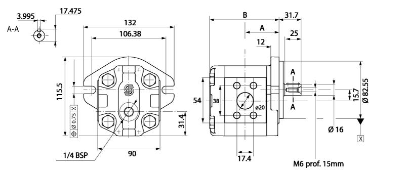 Moteur à engrenage HPI Flasque SAE arbre cylindrique 16 mm 10cm3
