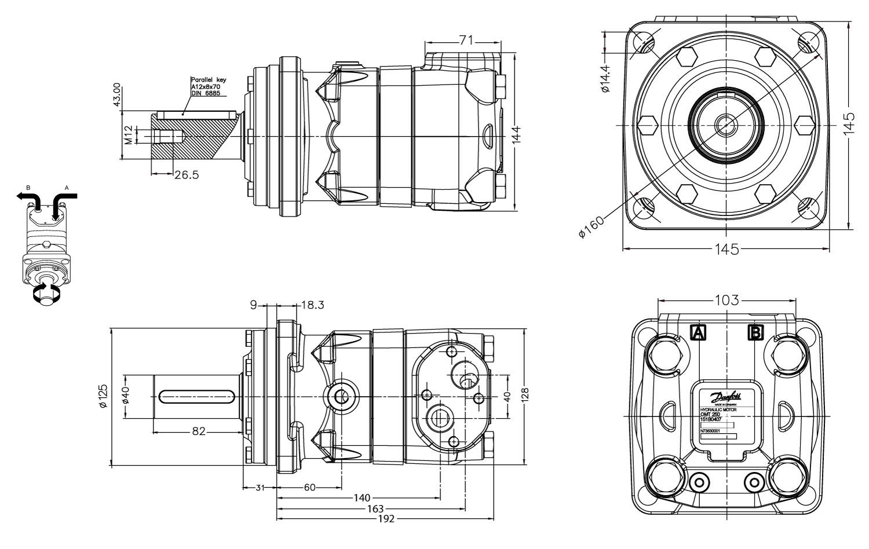 Schéma moteur DANFOSS 151B3000