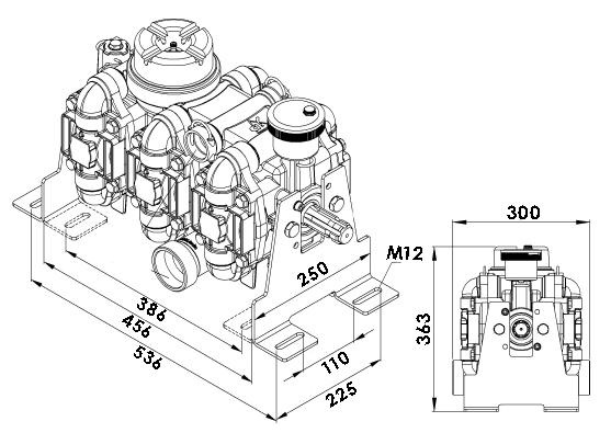 Schéma pompe a membrane 380 litres