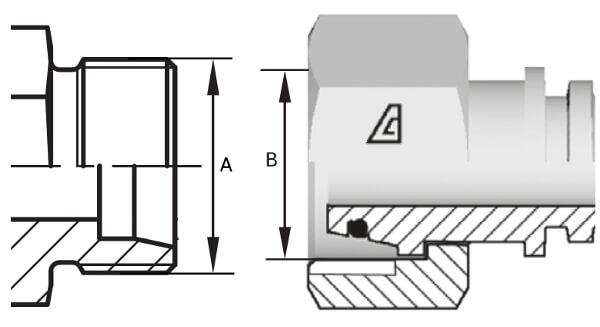 dimension d'un embout hydraulique morne DIN L