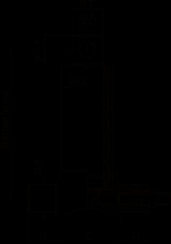 Vérin hydraulique 4 éléments fixation basse