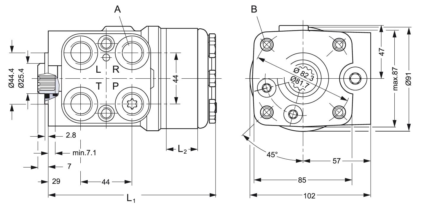 danfoss valve bedradings schema