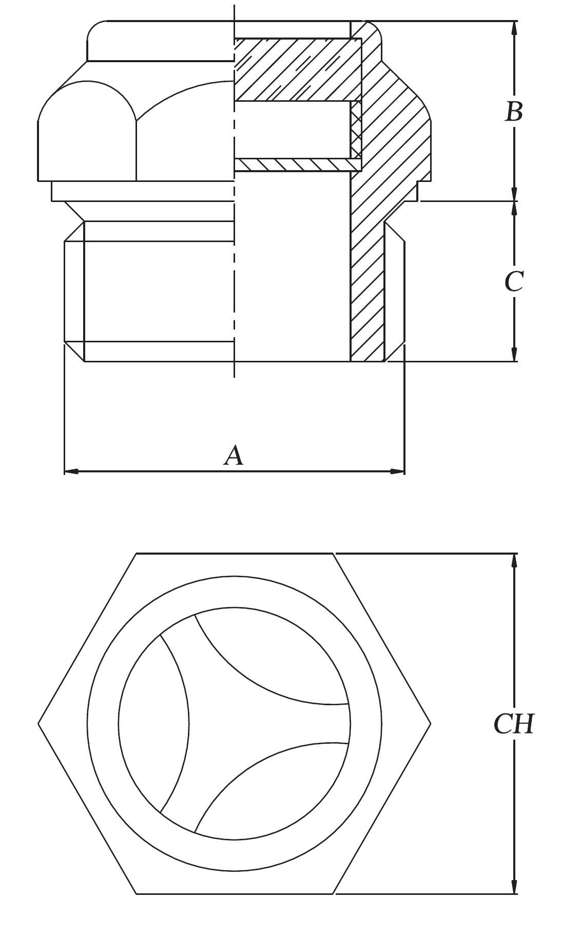 niveau visuel aluminium