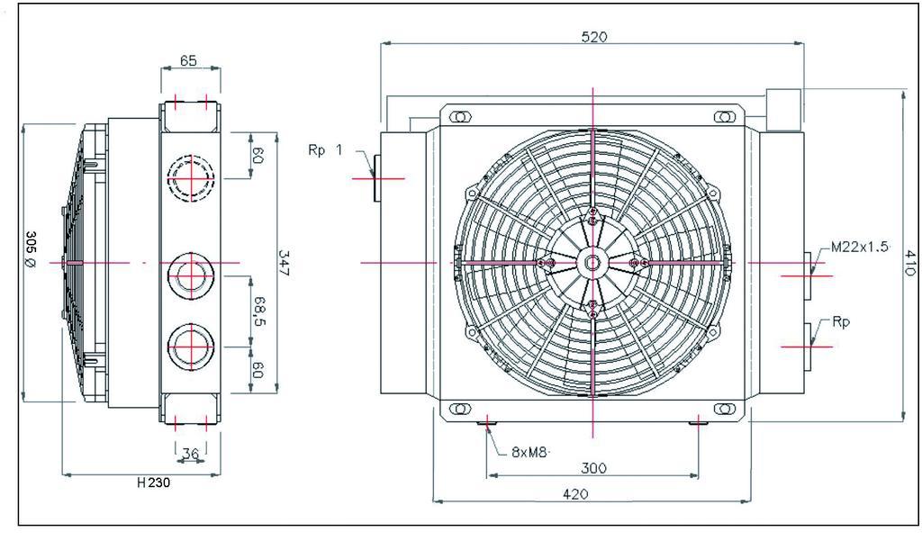 schéma échangeur thermique 45 à 160 litres