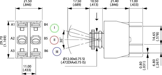 schéma interrupteur à levier bipolaire
