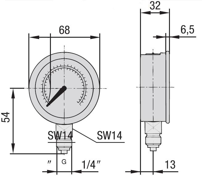 schéma manomètre hydraulique