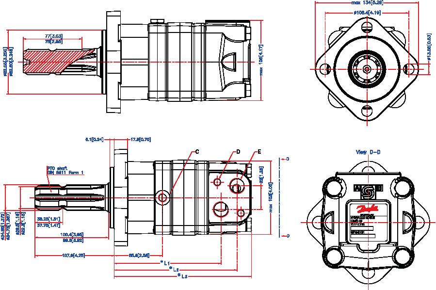 moteurs hydrauliques type oms arbre cannel u00e9 semi