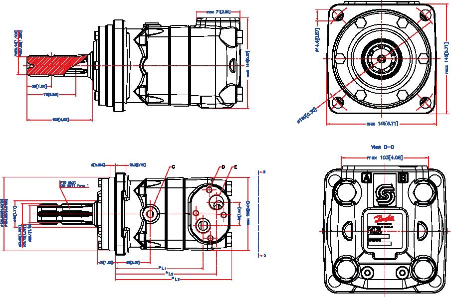 moteurs hydrauliques type omt arbre cannel u00e9 semi
