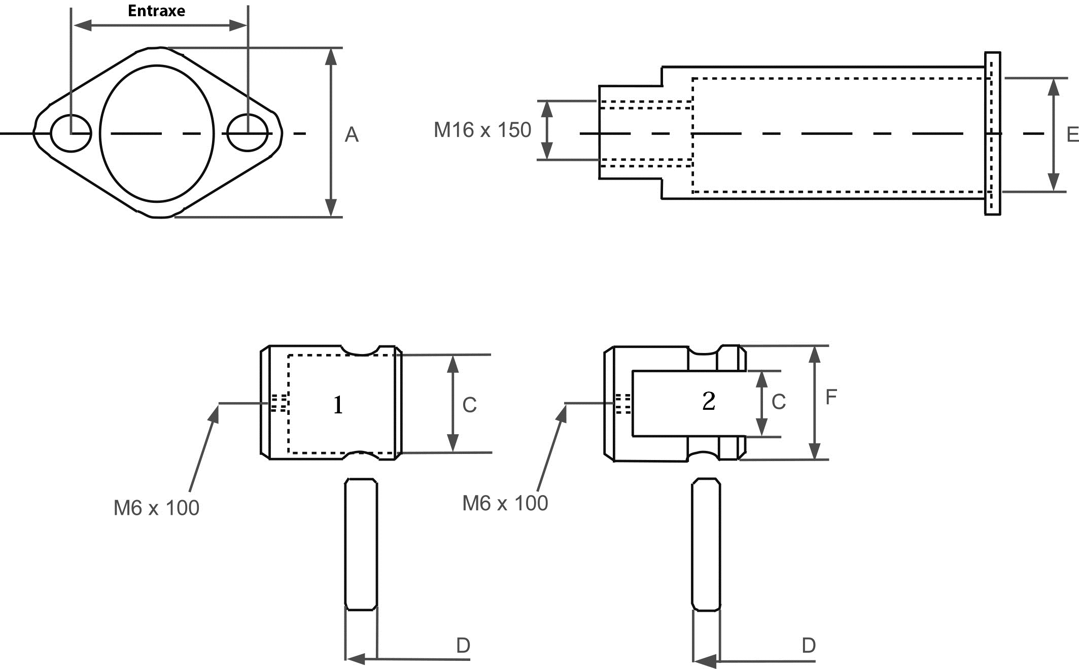 Schéma d'adaptateur de câble pour distributeur hydraulique.